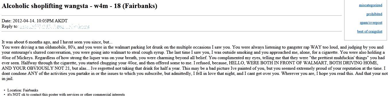 Craigslist dating in Fairbanks